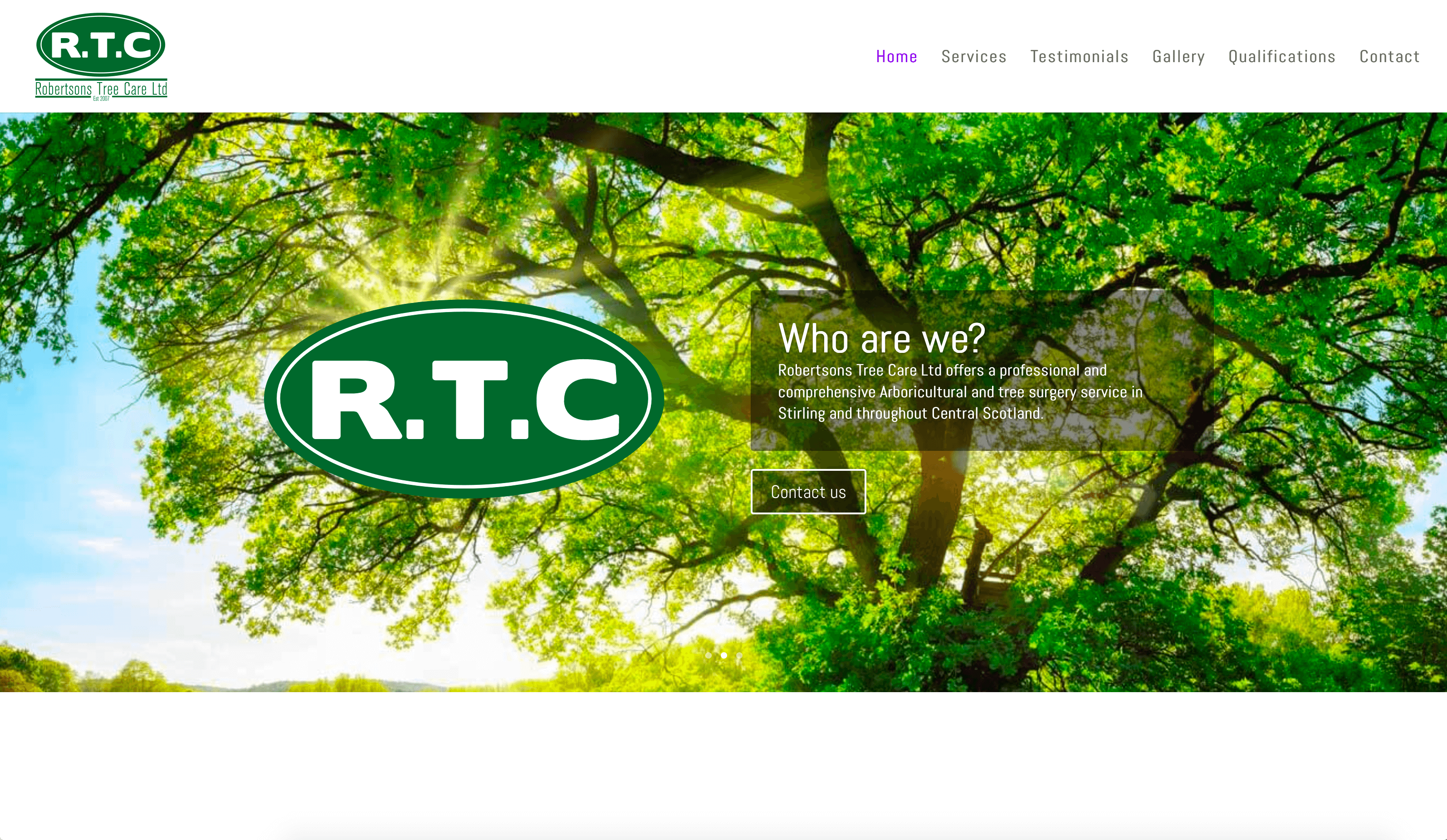 Robertson Tree Care Website