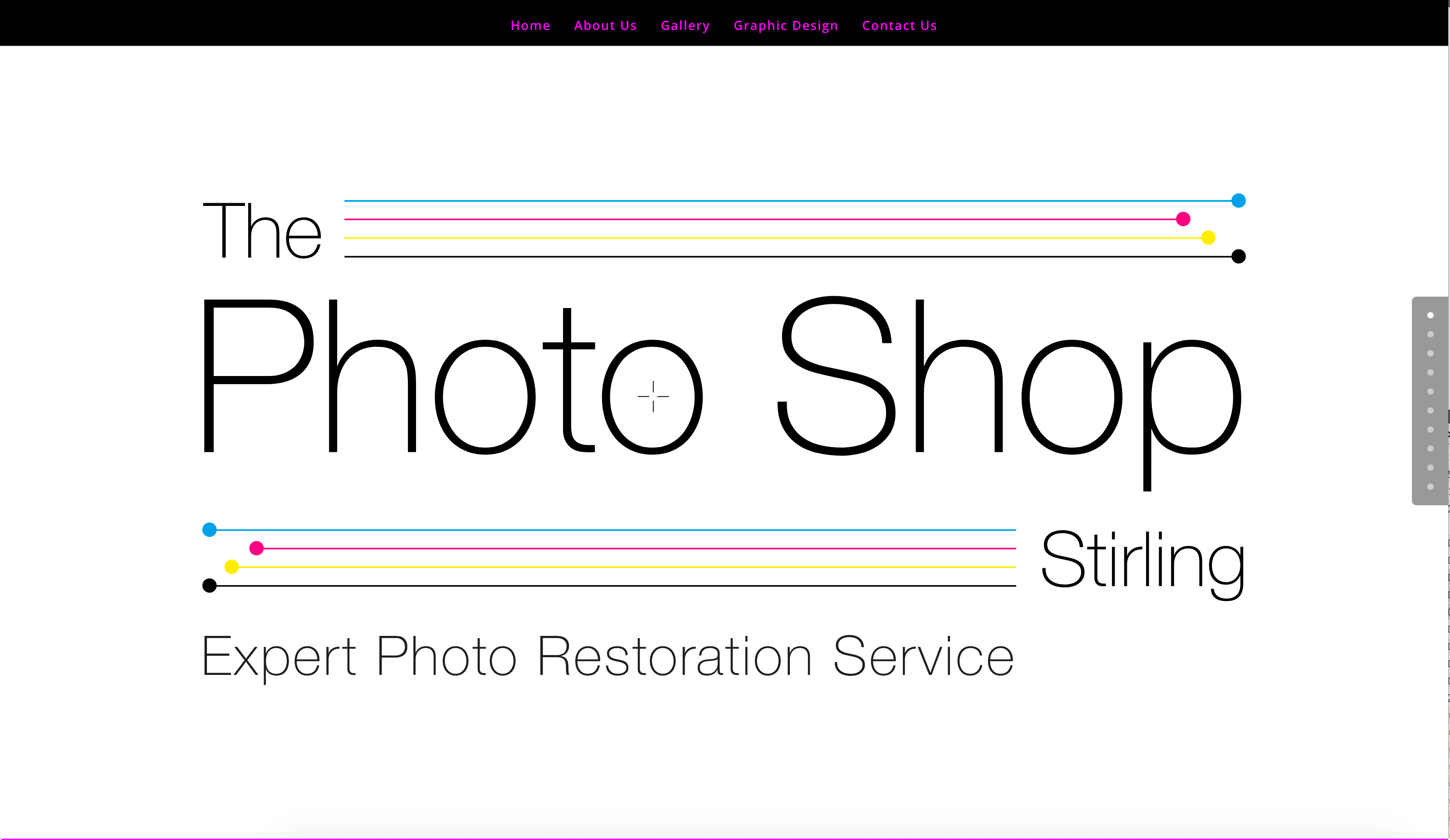 The Photo Shop Stirling Website